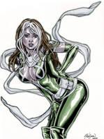 X-Men ROGUE Ink and Marker Sketch by John-Stinsman