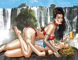 Notti and Nyce Swimsuit Pin Up