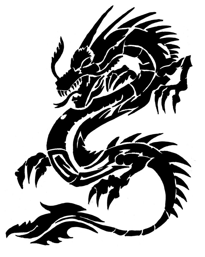Chinese dragon by deadwoodman on deviantart for Dragon tattoo drawings