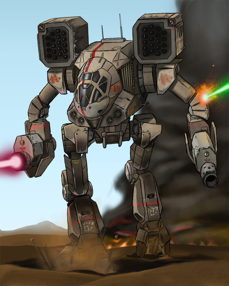 Mechwarrior - Timber Wolf by AzureChris