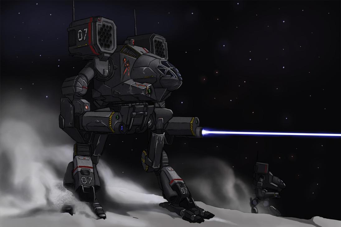 Battletech - Hunting Wolves... by AzureChris