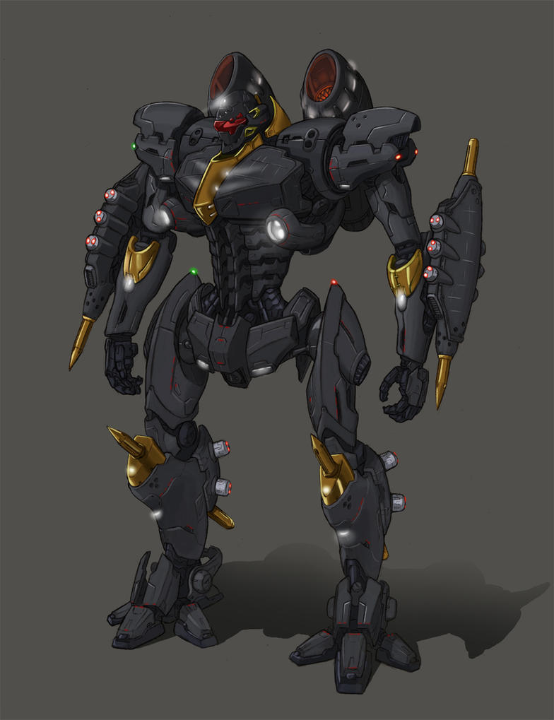 Pacific Rim - Customer Jaeger - Dancer Javlin by AzureChris