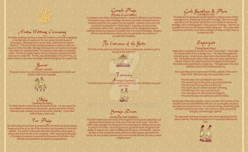 Wedding Program part 2: Hindu by thatladyj on DeviantArt