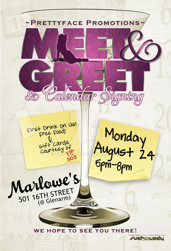 Meet n Greet Flyer by thatladyj on DeviantArt