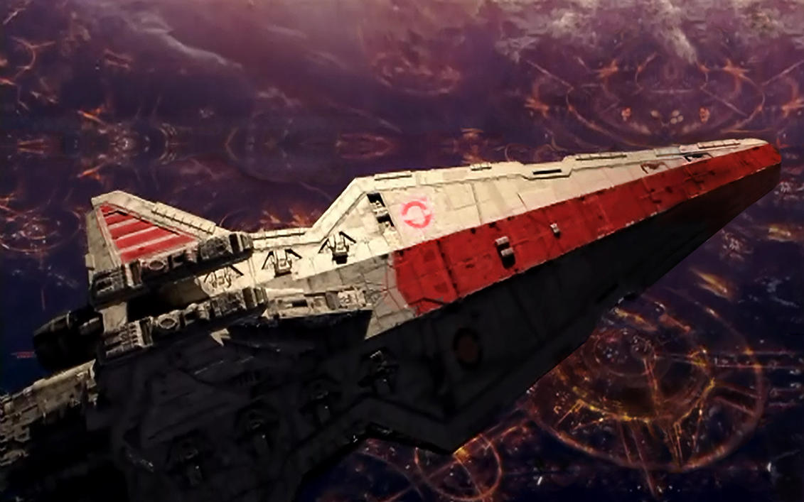 Venator over Coruscant by PakPolaris