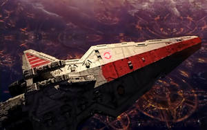 Venator over Coruscant by PakPolaris