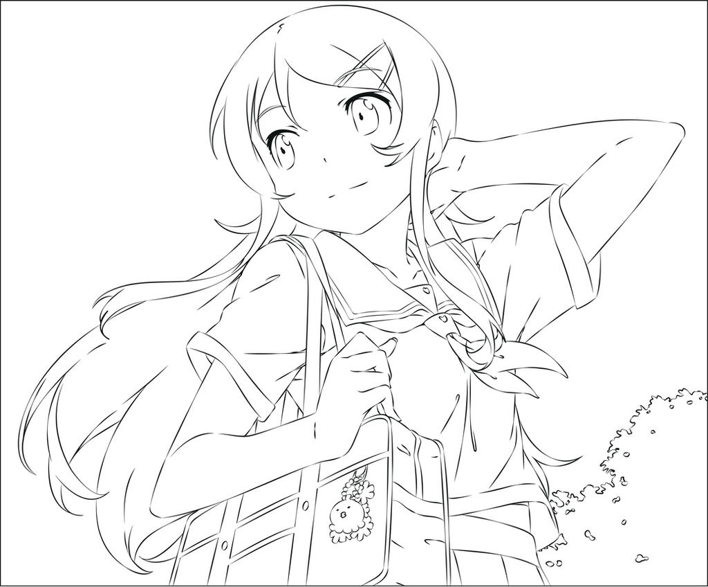 anime sisters coloring pages - photo#21