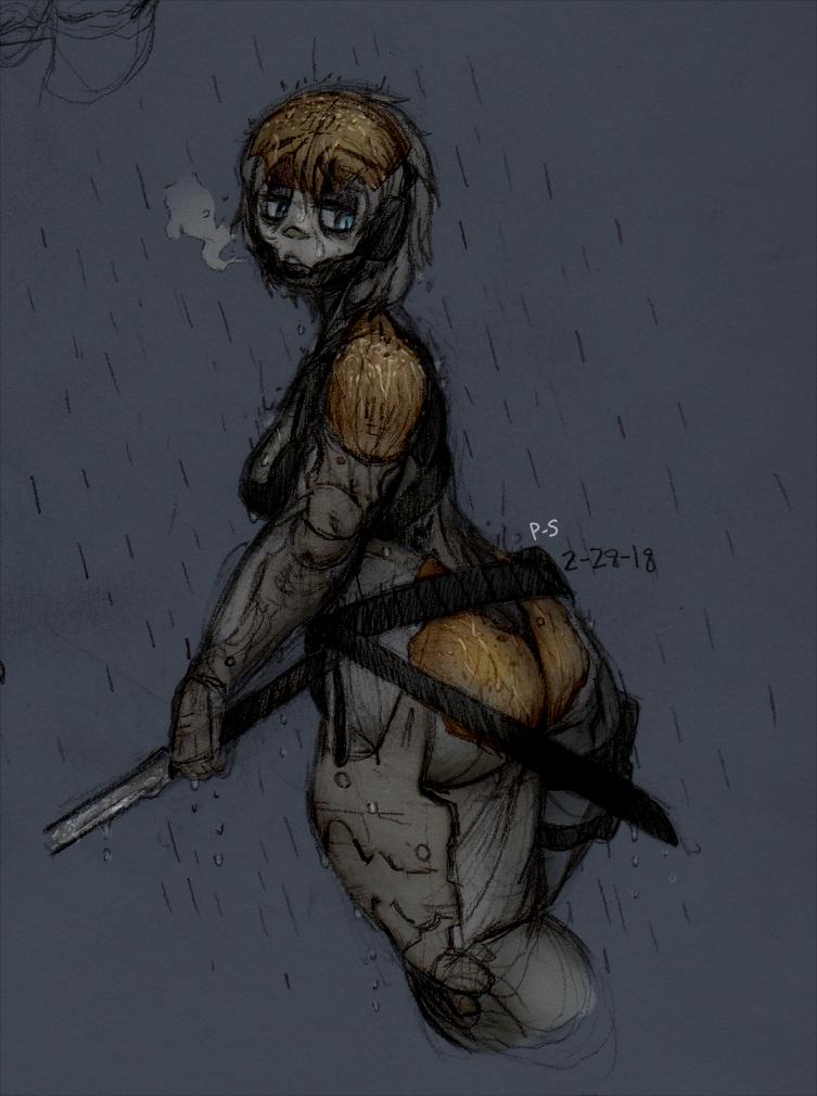 Rain by powder-sugar