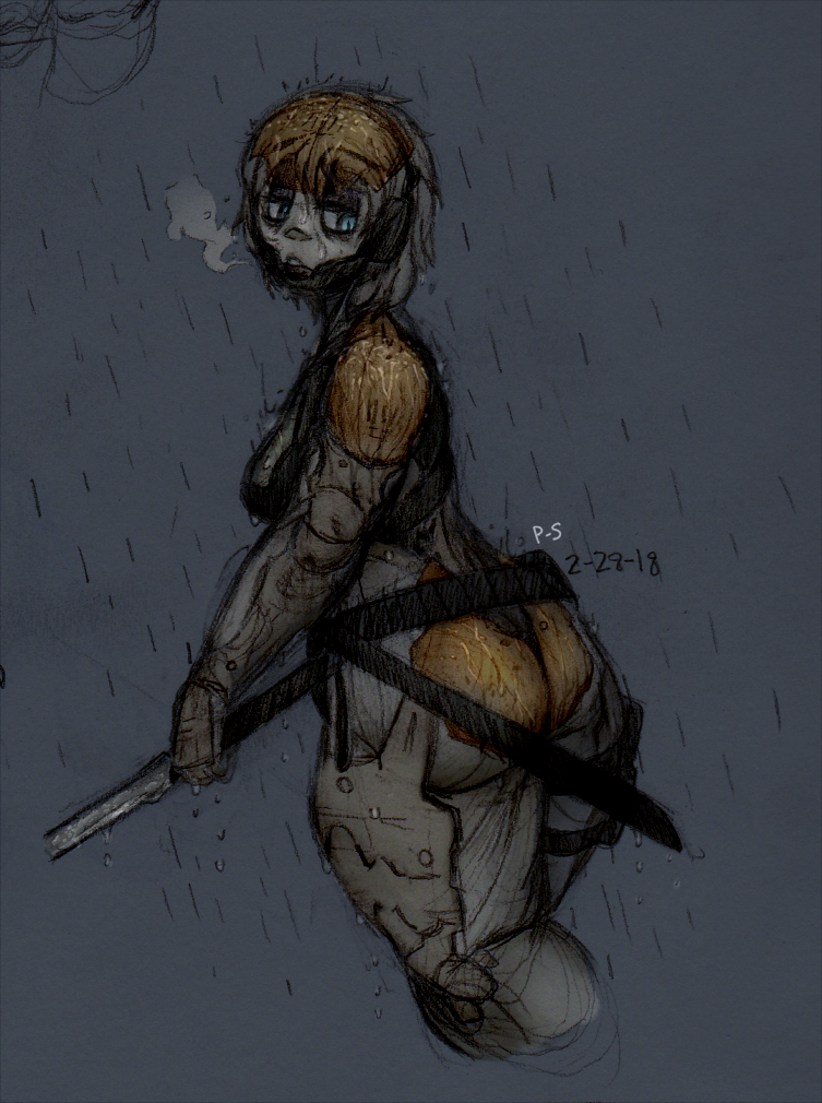 Rain by powder-sugar