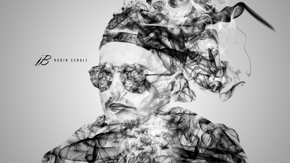 Robin Schultz Smoke Portrait by iBrushART