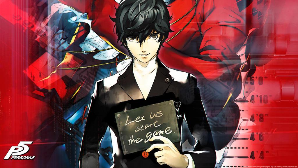 Persona 5 wallpaper - color version by De-monVarela