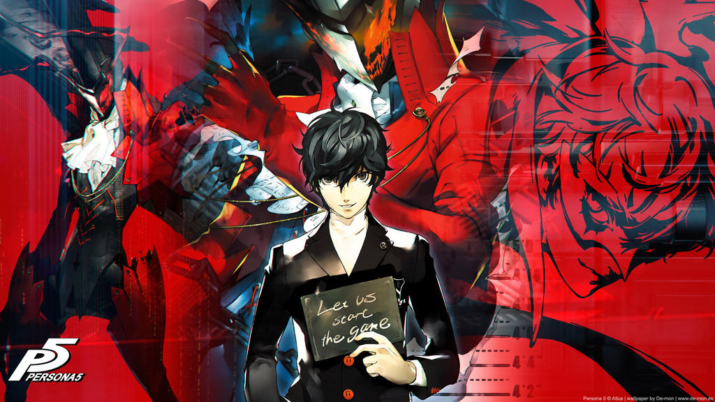 Persona 5 wallpaper 2 by De-monVarela