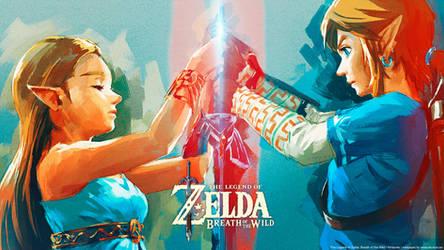 The Legend of Zelda: Breath of the Wild wallpaper by De-monVarela