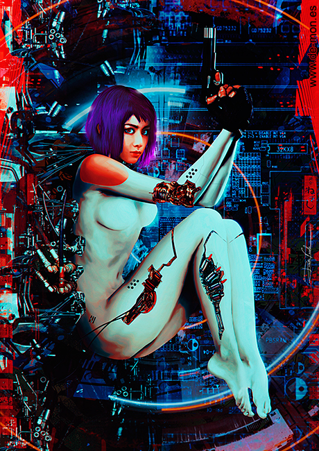 Motoko Kusanagi - Ghost in the Shell by De-monVarela