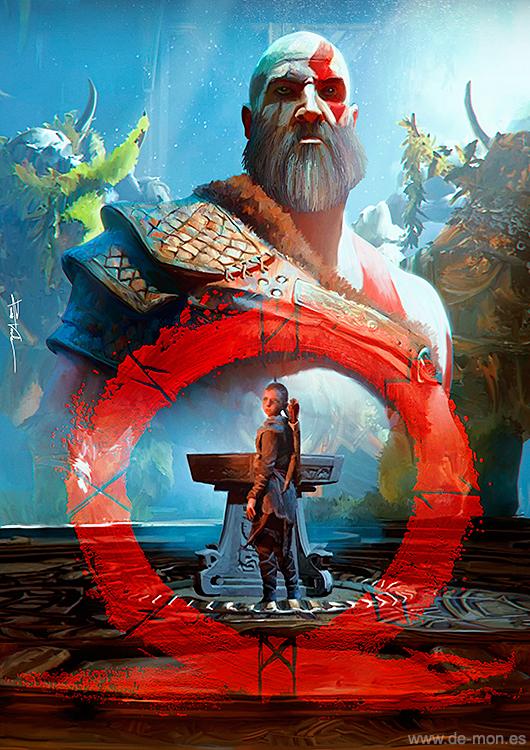 God of War fan art by De-monVarela