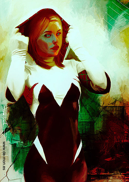 Spider-Gwen by De-monVarela