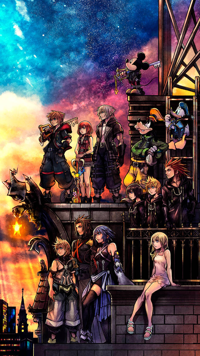 Kingdom Hearts III smartphone wallpaper