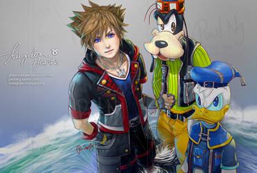 Kingdom Hearts - Sora Donald Goofy