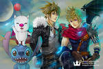 Kingdom Hearts - Sora, Roxas as Squall, Cloud