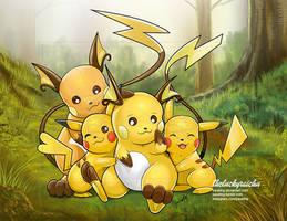 COMM: Pikachu Raichu by pauldng