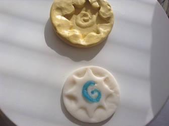 Heartstone Mold and Fondant Design by zaythar