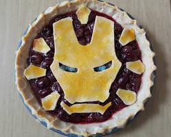 Iron Man Pie for Pi Day