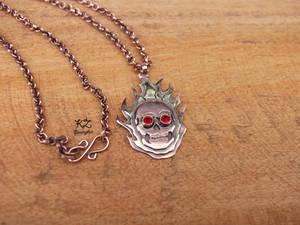 Copper and Brass Skull Pendant by kulmajs