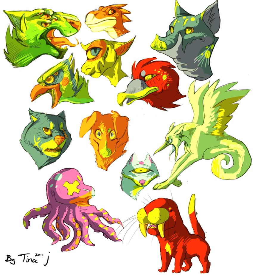 Heads by SmidgeFish