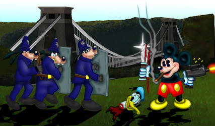 Mickey goes mental in the mild, mild west