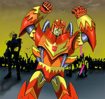 Autobot Flame and Zombie army
