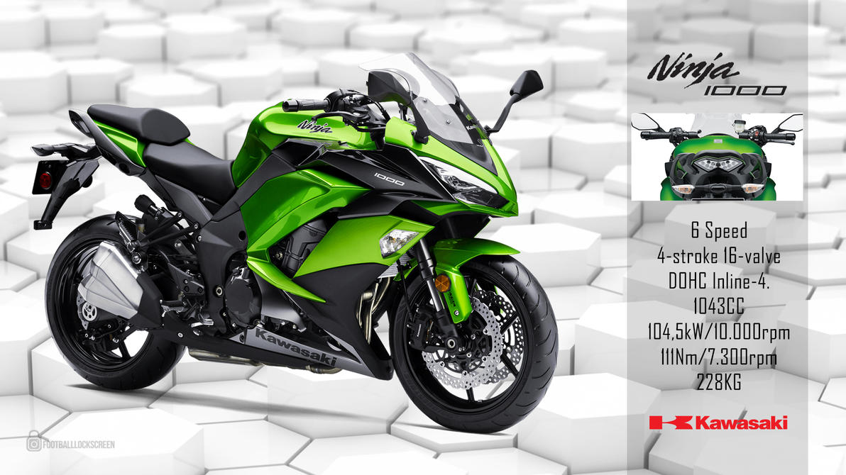 kawasaki ninja 1000 2017 wallpaperfootballlockscreen on deviantart