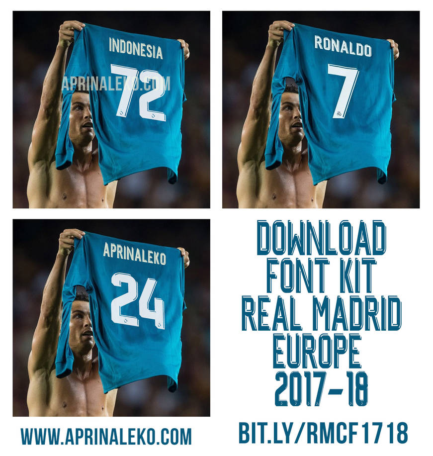 Real Madrid Font TTF 2017-18 Free Download by footballlockscreen on
