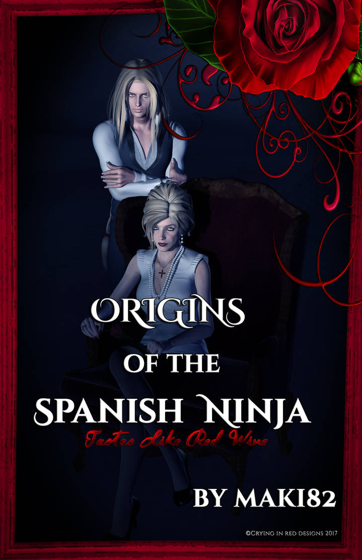 [SF] Origins of the Spanish Ninja (book cover) by cryinginreddesigns