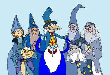 Wizards in blue