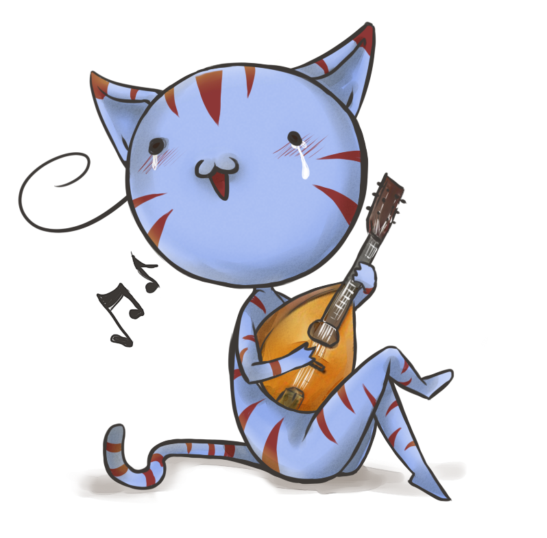 Mandolin Cat by alganori