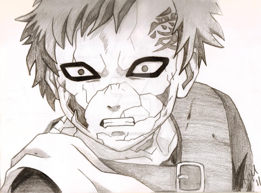 Gaara Of The Sand by LuckeyCharme on DeviantArt