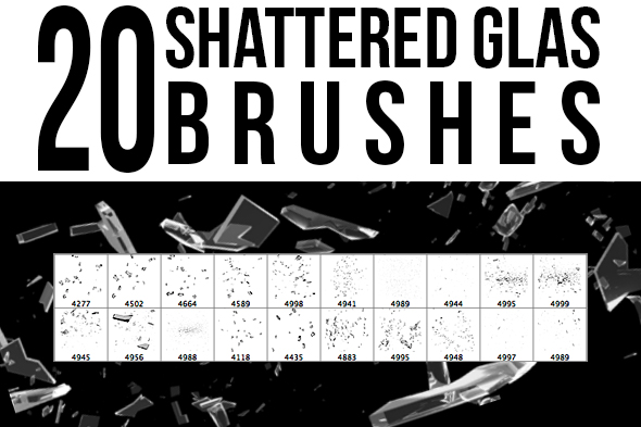 Shattered Glas Brushes by stockgorilla