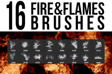 16 Fire + Flames Brushes by stockgorilla