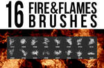 16 Fire + Flames Brushes