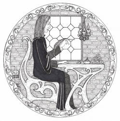 Snape at Work:Grading Homework by shadowycat