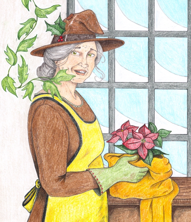 Head of Hufflepuff: Pomona Sprout by shadowycat
