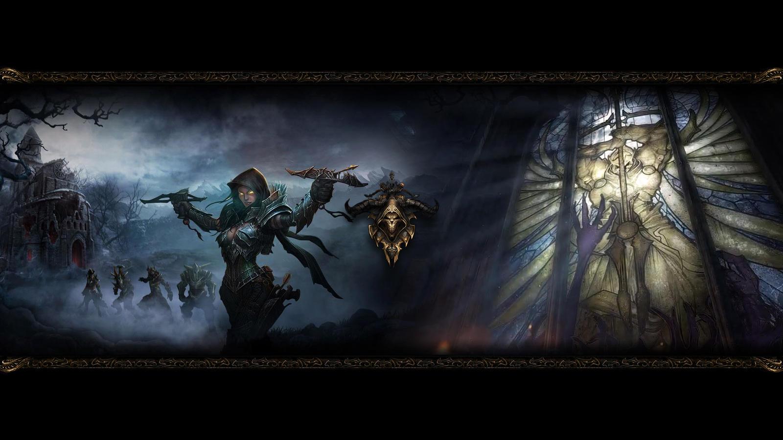 Diablo III Wallpaper Demon Hunter By SyntaxError255
