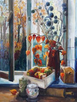 Autumn At The Kitchen Window