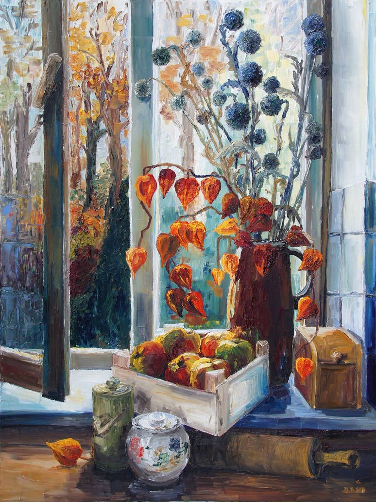 Autumn At The Kitchen Window