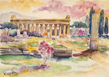 Paestum In Spring by BarbaraPommerenke