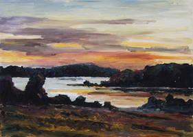 After Sunset at Lake Fleesensee