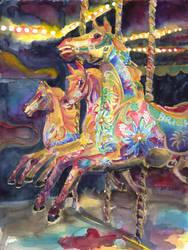Merry-Go-Round Horses Of Brighton Pier