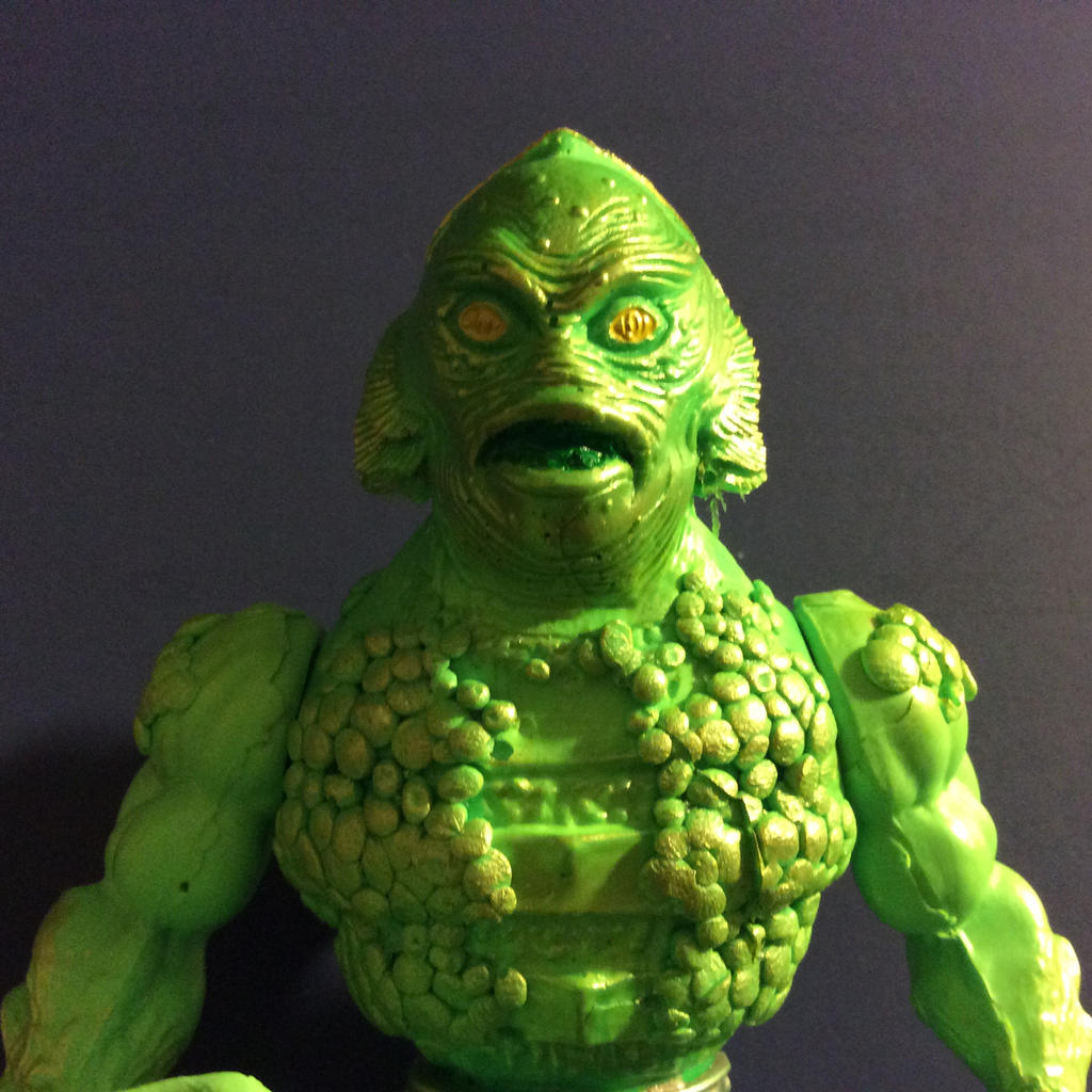 Monsters of the Universe Gillman figure by GoobleGobbleStudios