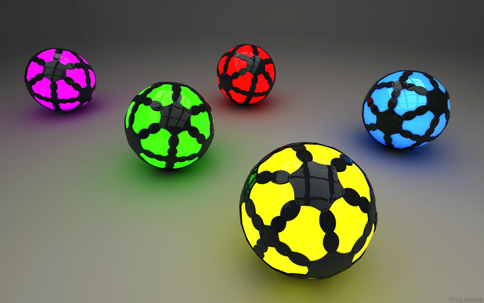 Glowing Spheres by ryanr08