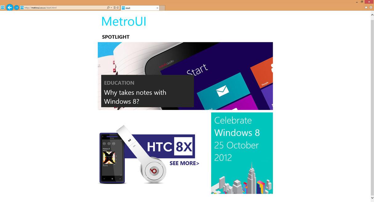 My Website by MetroUI